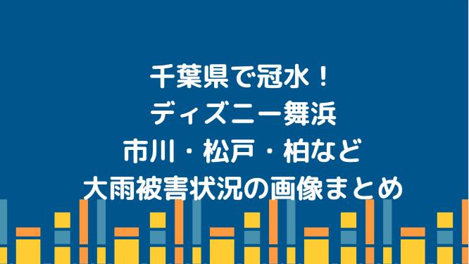 千葉県で冠水!ディズニー舞浜・市川・松戸・柏など大雨被害状況の画像まとめ